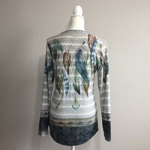 Vocal Tops - Vocal Feather Tunic Shirt